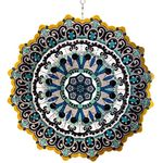 "12"" Blue Black Mandala Spinner w/Beads"