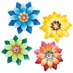 "12"" Floral Wall Hanging Decor (Set of 8)"