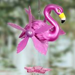 "12"" Large Flamingo Whirligigs Windchime"