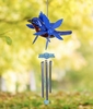 "12"" Metallic Blue Bird Whirligigs Windchime"