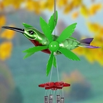 "12"" Metallic Hummingbird Whirligigs Windchime"
