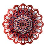 "12"" Red Black Mandala Spinner w/Beads"