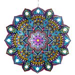 "12"" Teal Starburst Laser-Cut Spinner w/Beads"