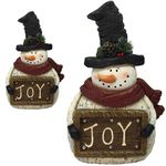 Christmas Snowman Joy Decor (Set of 2)