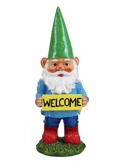 13 Quot Welcome Gnome Green Hat Only 12 99 At Garden Fun