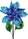 "15"" Kinetic Flower Garden Stake - Blue"
