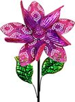 "15"" Kinetic Flower Garden Stake - Purple"