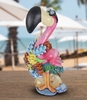 "17"" Beach Flamingo Statue"