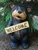 "18"" Large Standing Bear w/Welcome Sign"