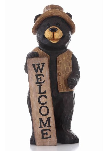 Bear Standing w/Welcome Sign - Click to enlarge