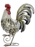 "18"" White & Gold Metal Rooster"
