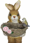 "20"" Rabbit Statue w/Twig Basin"