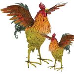 "21"" Napa Roosters - Wings Out (Set of 2)"