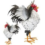 "21"" Sussex Rooster Decor - Wing Up (Set of 2)"