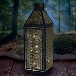 "22"" Filigree Metal Lantern w/50 LEDs & Timer"
