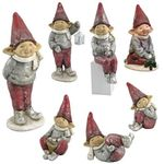 "22"" Red Hat Christmas Elves (Set of 7)"