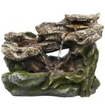 Rainforest Logs Tabletop Fountain w/LED Lights