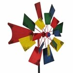 "24"" Colorful Dual Windmill Stake"