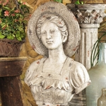 "27"" French Girl Bust w/Hat"
