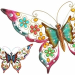 "28"" Pastel Butterfly Wall Decor (Set of 6)"