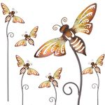 "28"" Whimsy Bee Garden Stakes (Set of 6)"