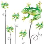 "28"" Whimsy Frog Garden Stakes (Set of 6)"