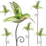 "28"" Whimsy Hummingbird Garden Stakes (Set of 6)"