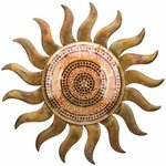 "29"" Flamed Copper Mosaic Sun"