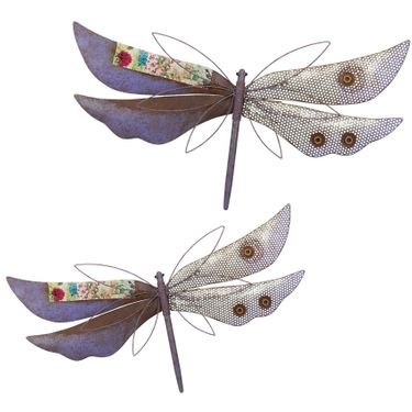 Dragonflies Rustic Wall Decor Set