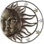 "35"" Sun & Stars Wall Decor"