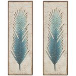 "36"" Blue Fern Wall Decor (Set of 2)"