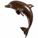 "36"" Dophin Wall Decor - Bronze Finish"