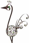 "48"" Filigree Bird - Bronze w/Green Beads"