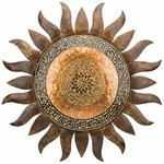 "36"" Large Mosaic Gold Sun"