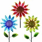 "36"" Shimmering Flowers (Set of 3) - Mixed"