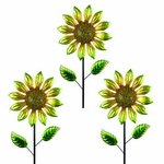 "36"" Shimmering Flowers (Set of 3) - Yellow"