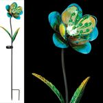 "36"" Solar Blue Flowers (Set of 4)"