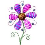 "36"" Whimsical Metal Flower Stake - Purple"