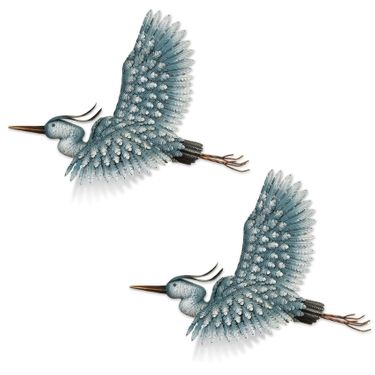 3D Heron Flight Wall Decor (Set of 2) - Click to enlarge