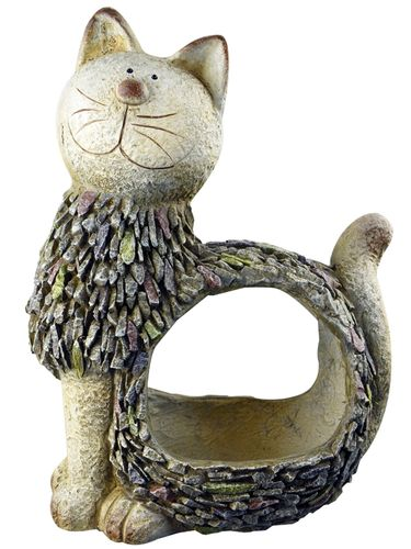 3D Stone Kitty Planter - Click to enlarge