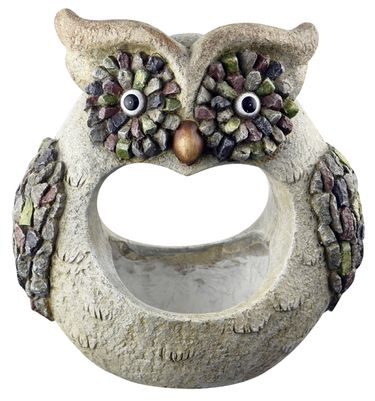 3D Stone Owl Planter - Click to enlarge