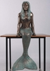 "40"" Ledge Sitting Mermaid - Verde Bronze"