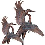 "48"" Dancing Copper Patina Herons (Set of 2)"