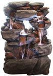 "54"" Rock Falls Outdoor Fountain w/LED Lights"