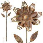 "55"" Copper Flower Fun Garden Stakes (Set of 2)"