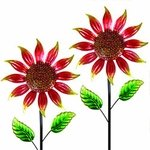 "60"" Shimmering Flowers (Set of 2) - Red"