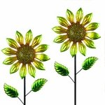 "60"" Shimmering Flowers (Set of 2) - Yellow"