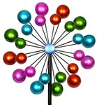 "65"" Doulble Bubble Kinetic Garden Stake"