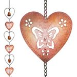 "66"" Hearts & Bells Rain Chain"