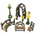 6pc Miniature Yellow Flower Garden Set